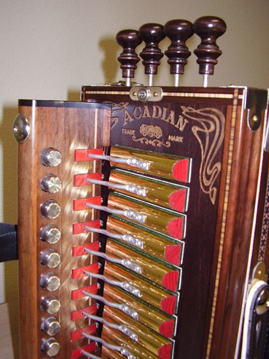 A Marc Savoy Cajun Accordion built in Eunice, Louisiana