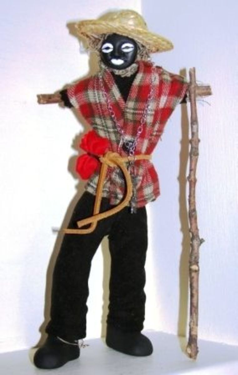 Papa Legba Voodoo Doll, available from planetvoodoo.com