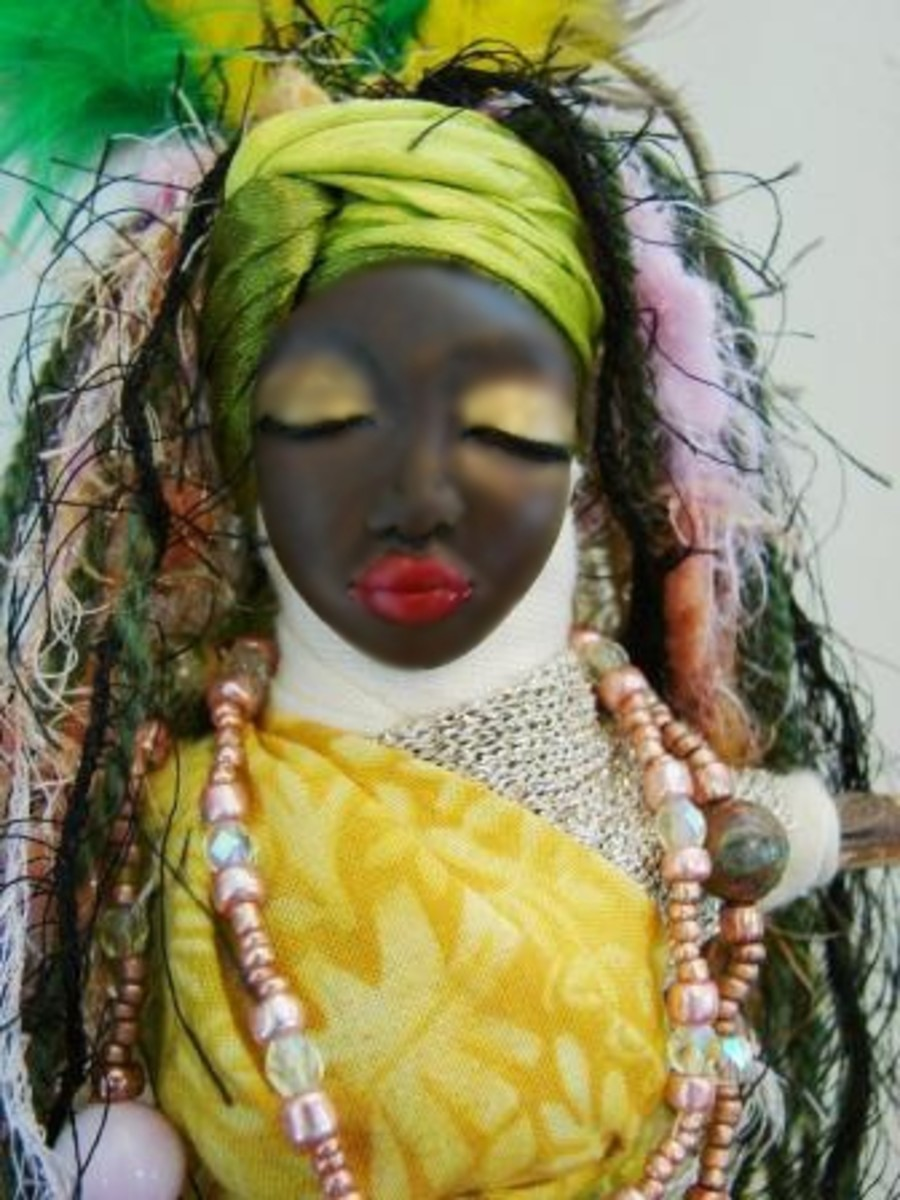 Oshun Voodoo Doll, available from planetvoodoo.com