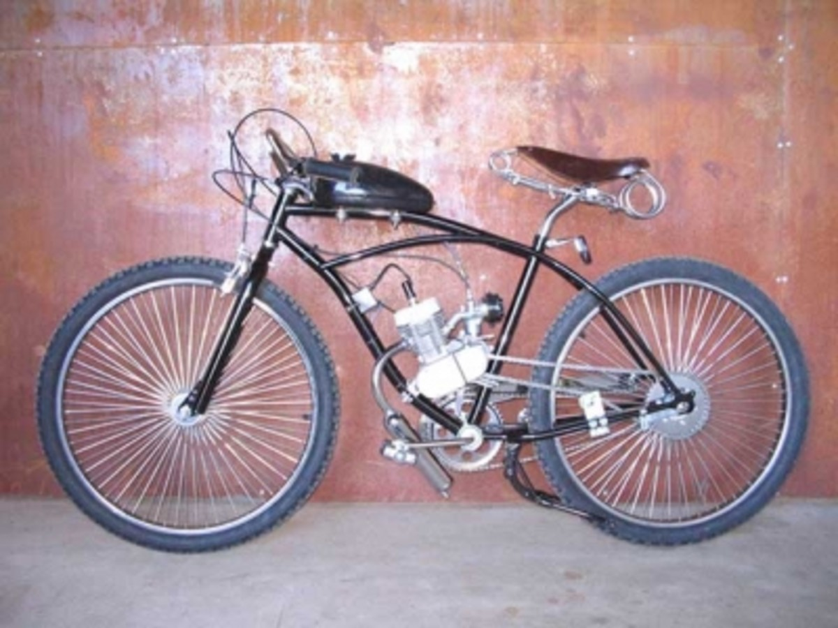 Completed Motorized Bicycle from Spooky Tooth