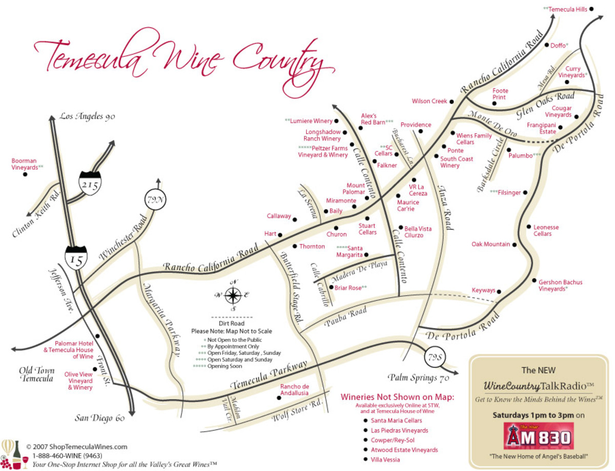 Best Map of Temecula Wine Country (linked below)