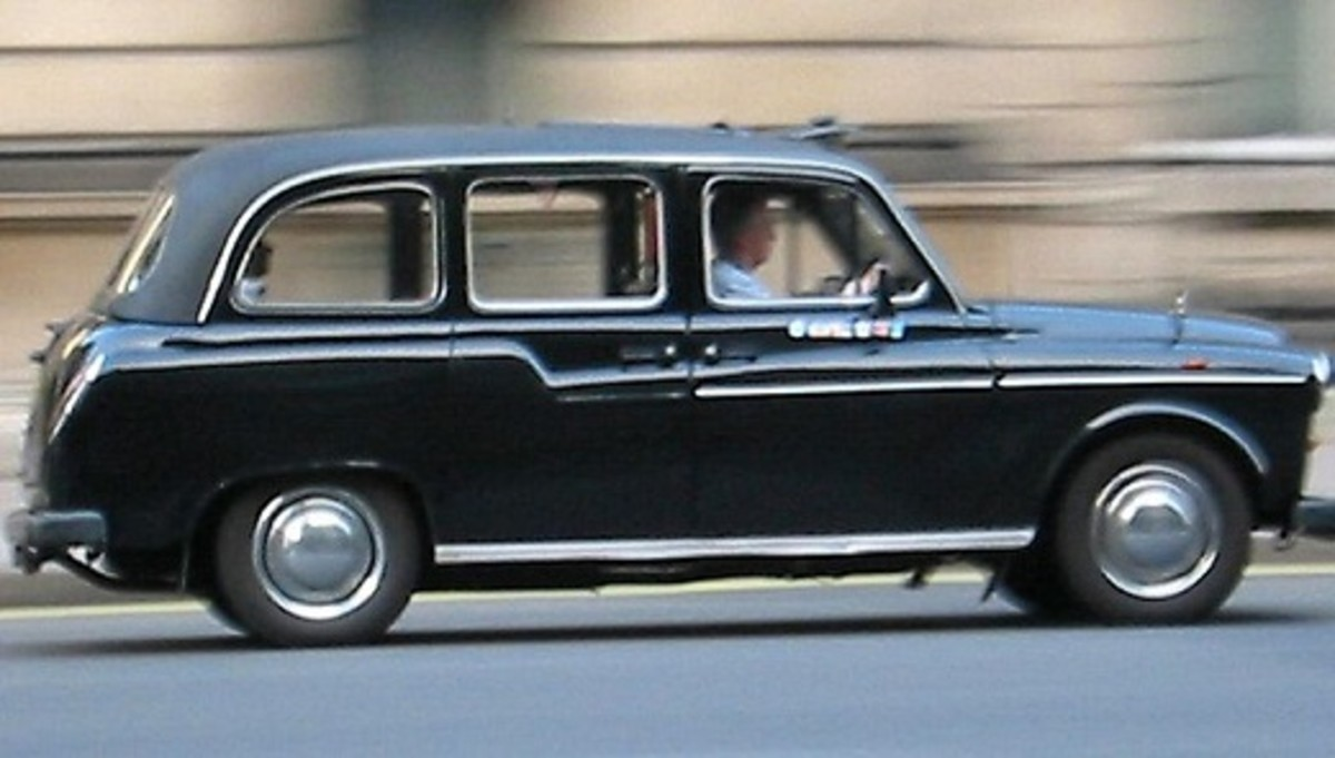This is a London black cab, officially known as a Hackney Carriage