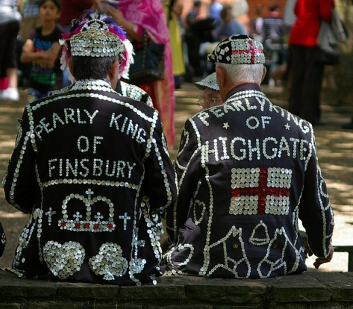 Two pearly kings taking a break.