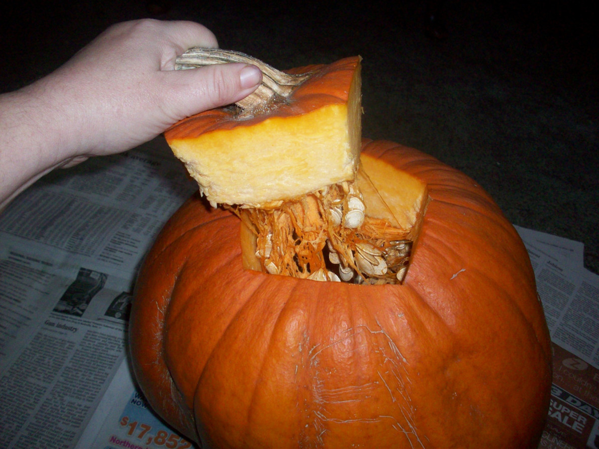 Taking off the Pumpkin Lid