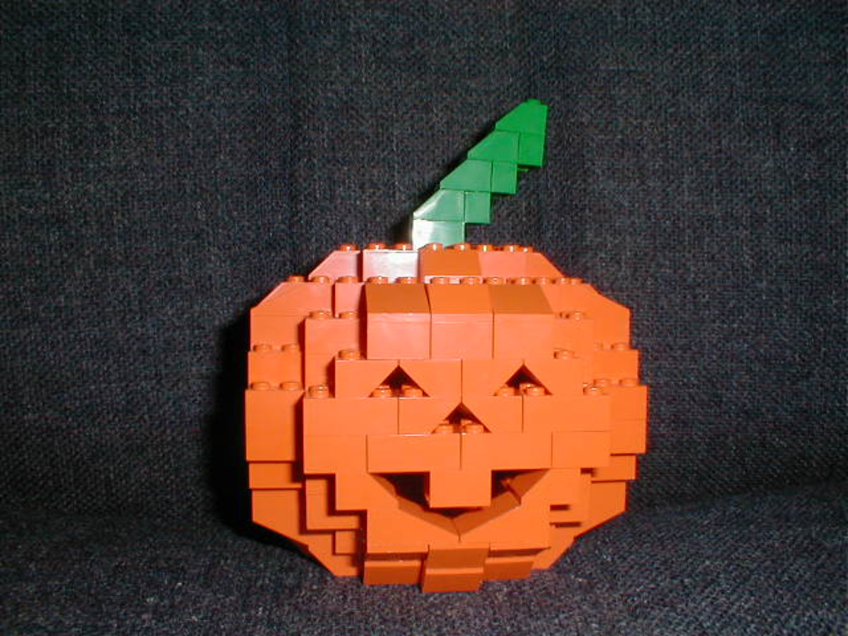 Pumpkin Made out of Legos