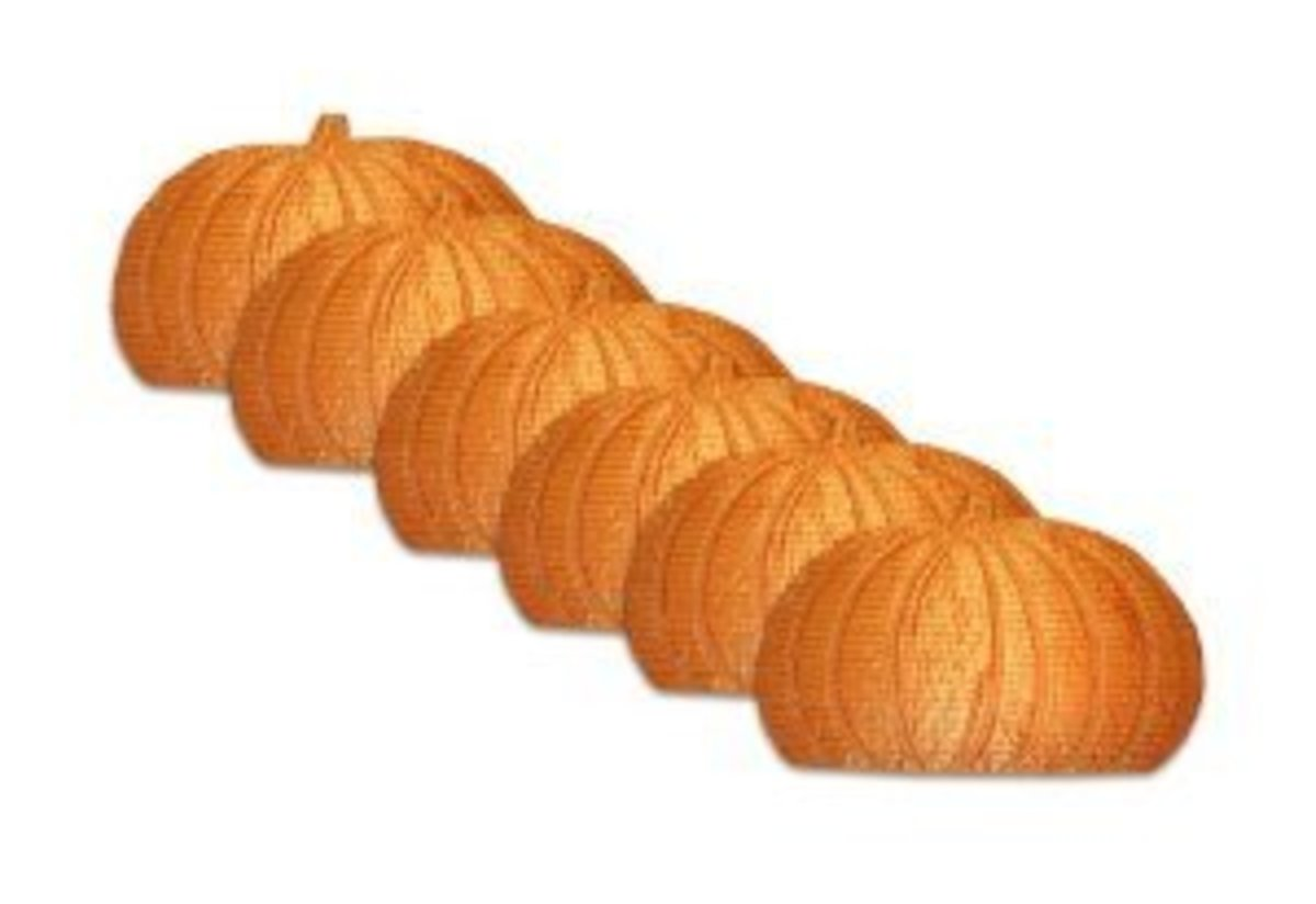 Pumpkin Place Mats