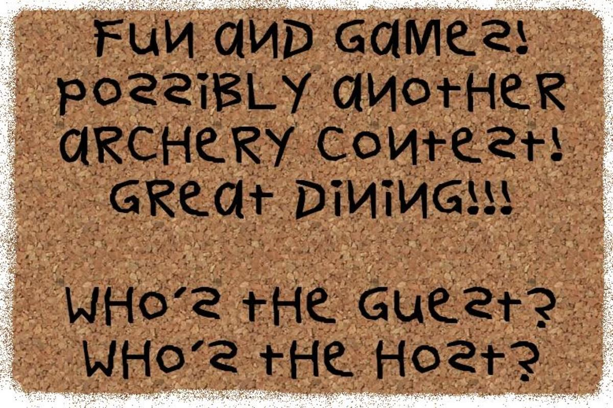 set them free in a place like the sherwood forest and what do you expect from men as merry as these ... even richard the lionhearted joins in and has fun ... and games ... of course the food is at lionheart's expense!