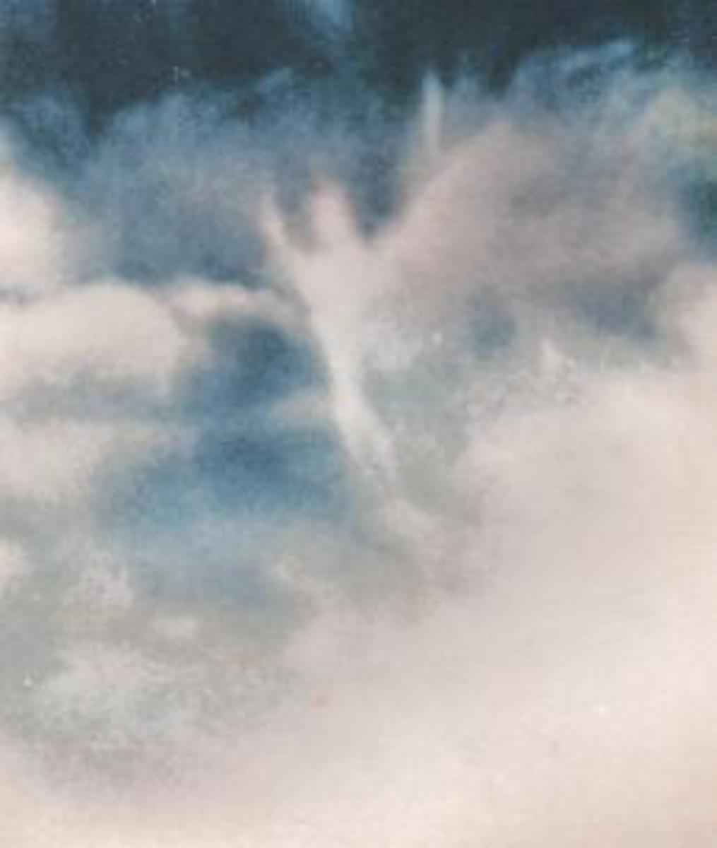 Angel in The Clouds, many have seen this when someone has past or something has happened.