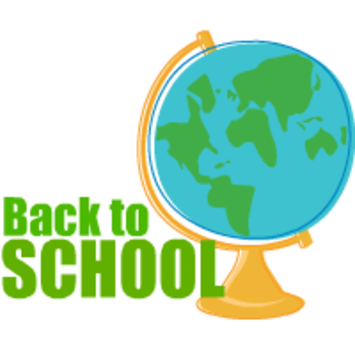 Back to school clip art: globe