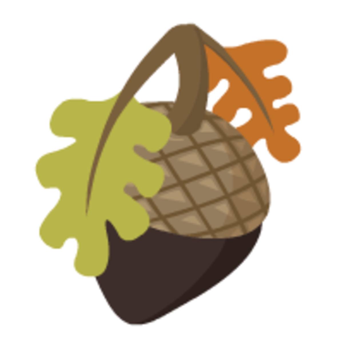 acorn with autumn leaves free fall clip art