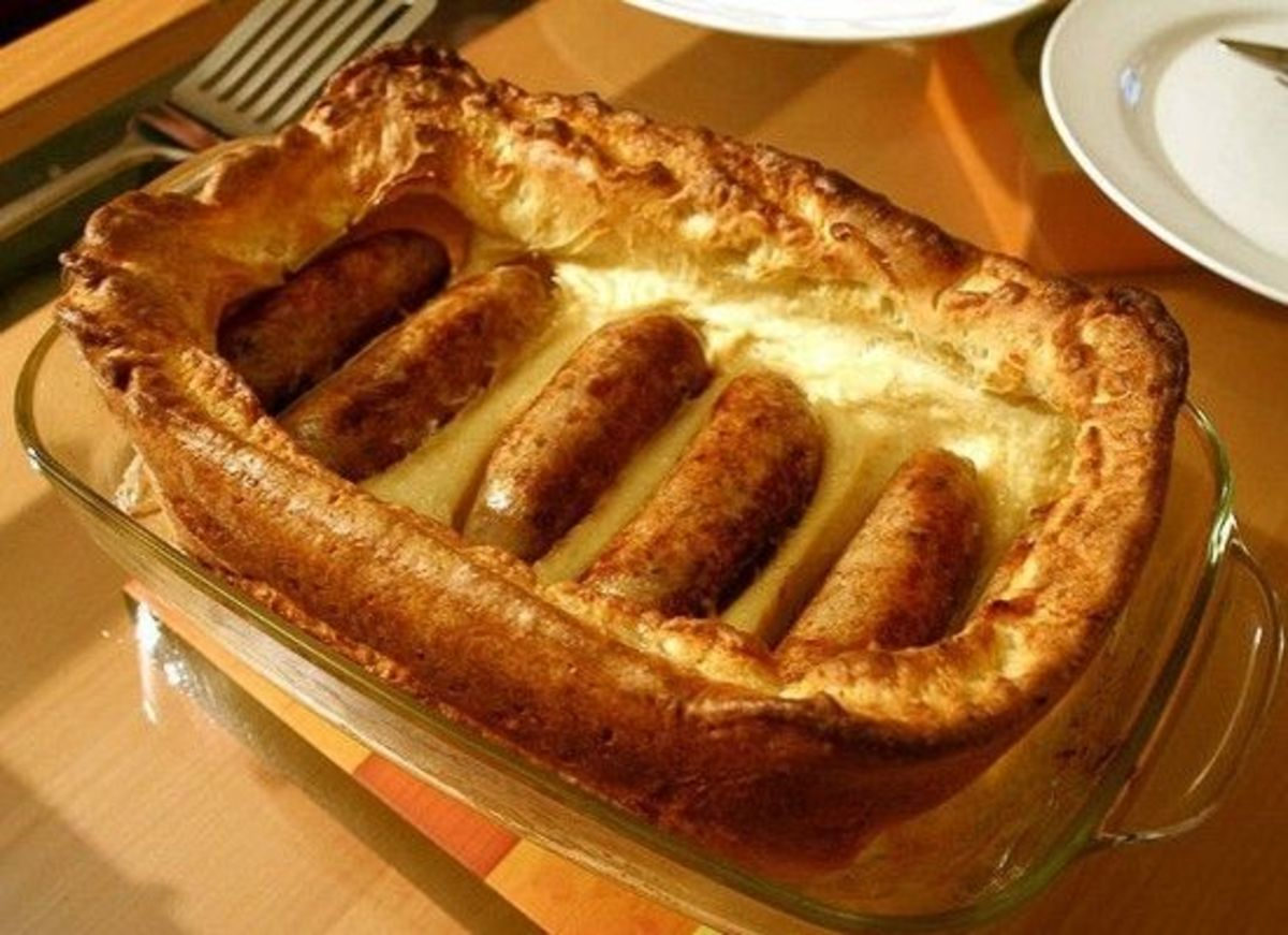 Toad in the Hole - a traditional British dish