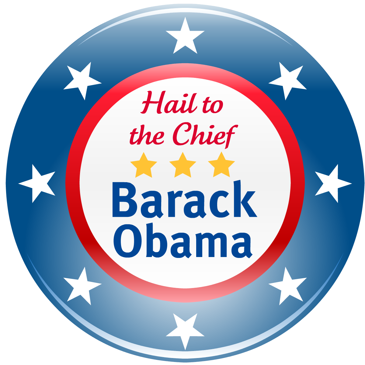 Election clip art: Barack Obama, hail to the chief