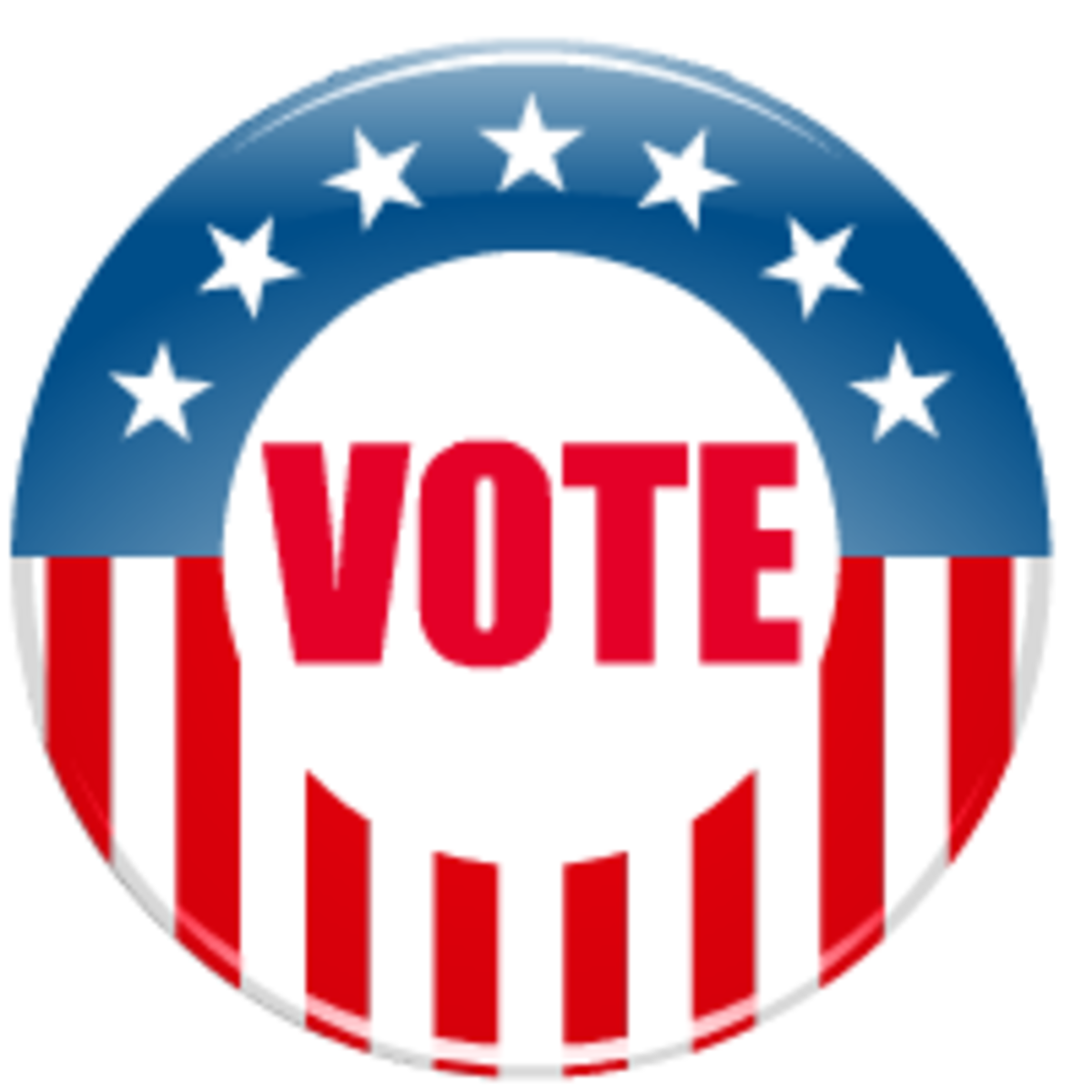 Election clip art: vote button