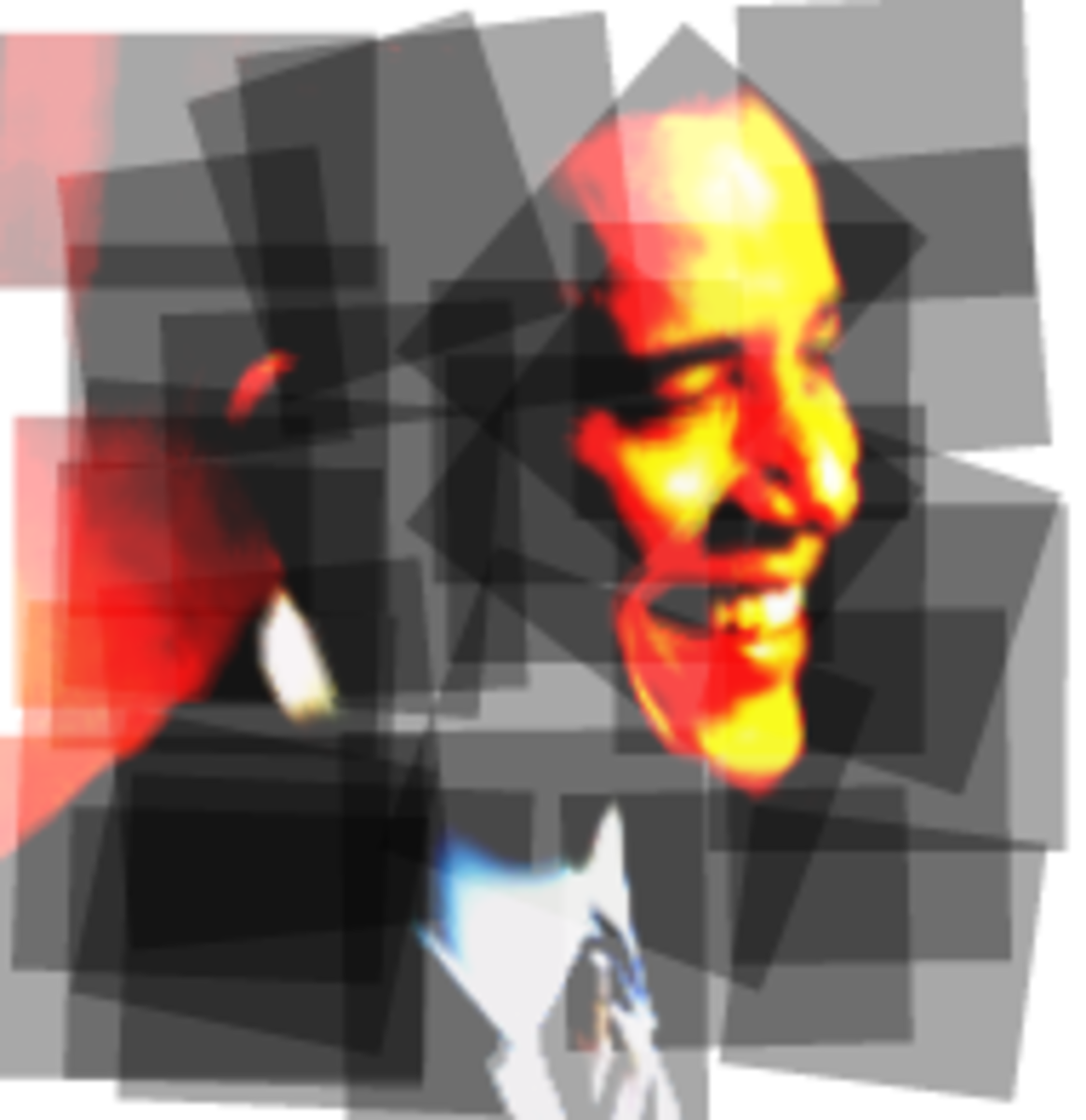 Barack Obama clip art -- unifying the pieces