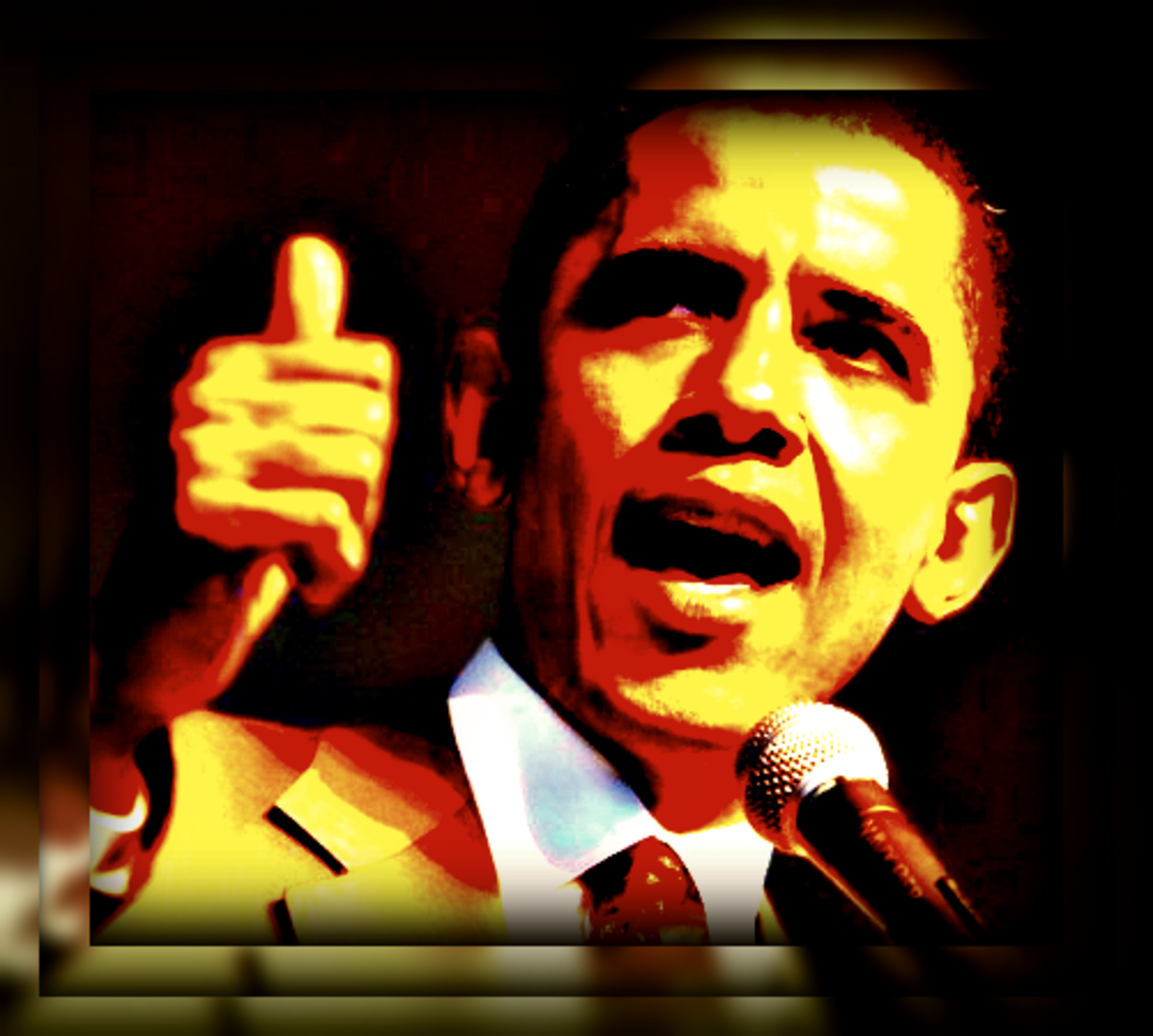 Barack Obama clip art -- thumbs-up