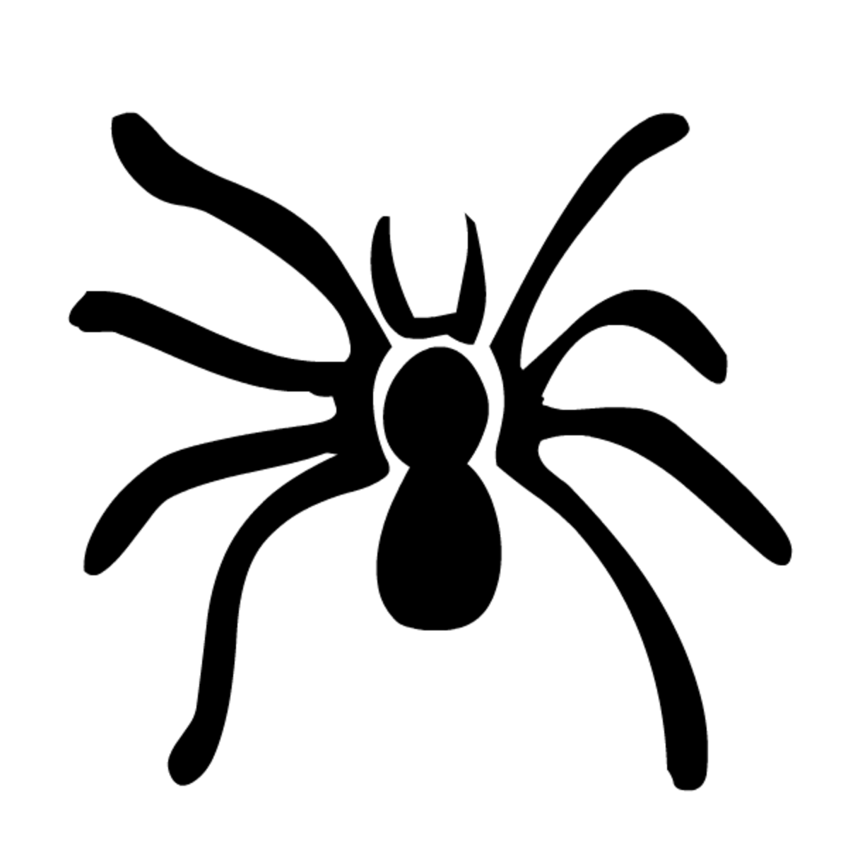 Free black and white spider Halloween clip art