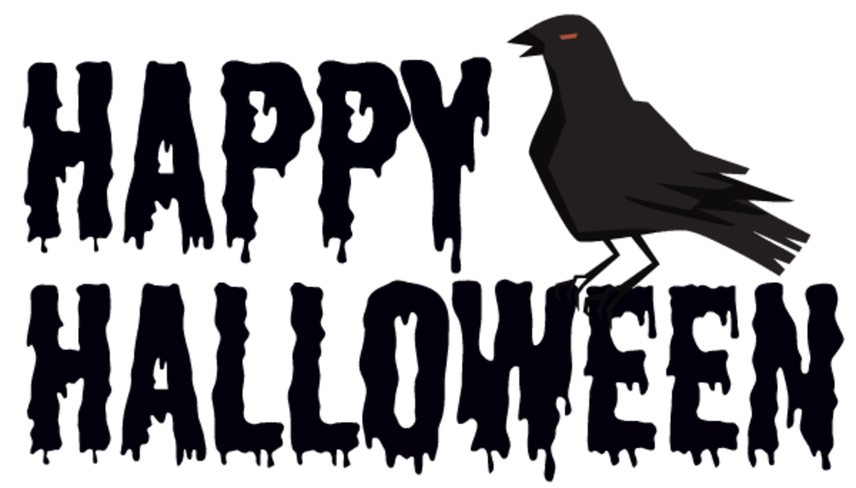 """Happy Halloween"" with raven"