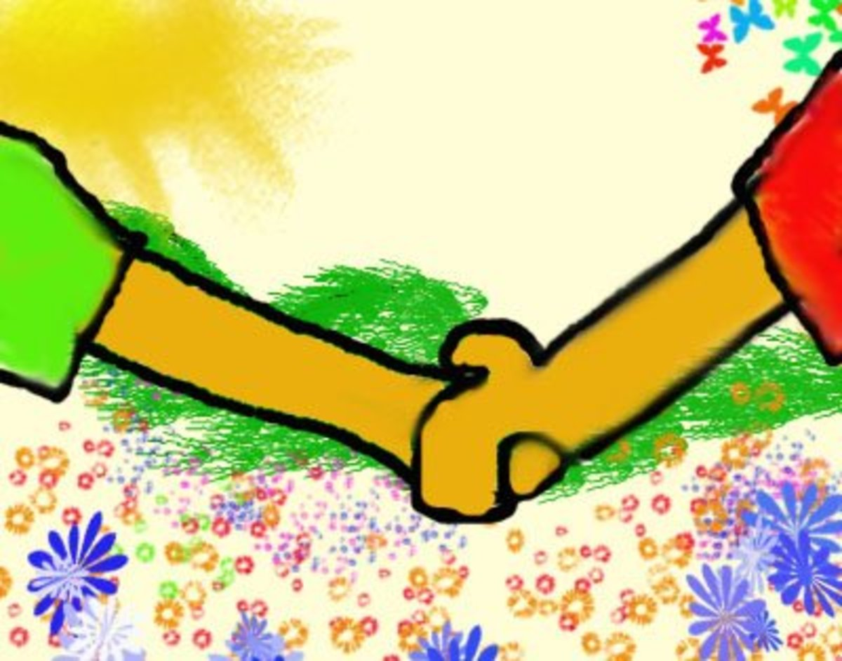 Little Michelle holds Little Daisy's hand as they journey on