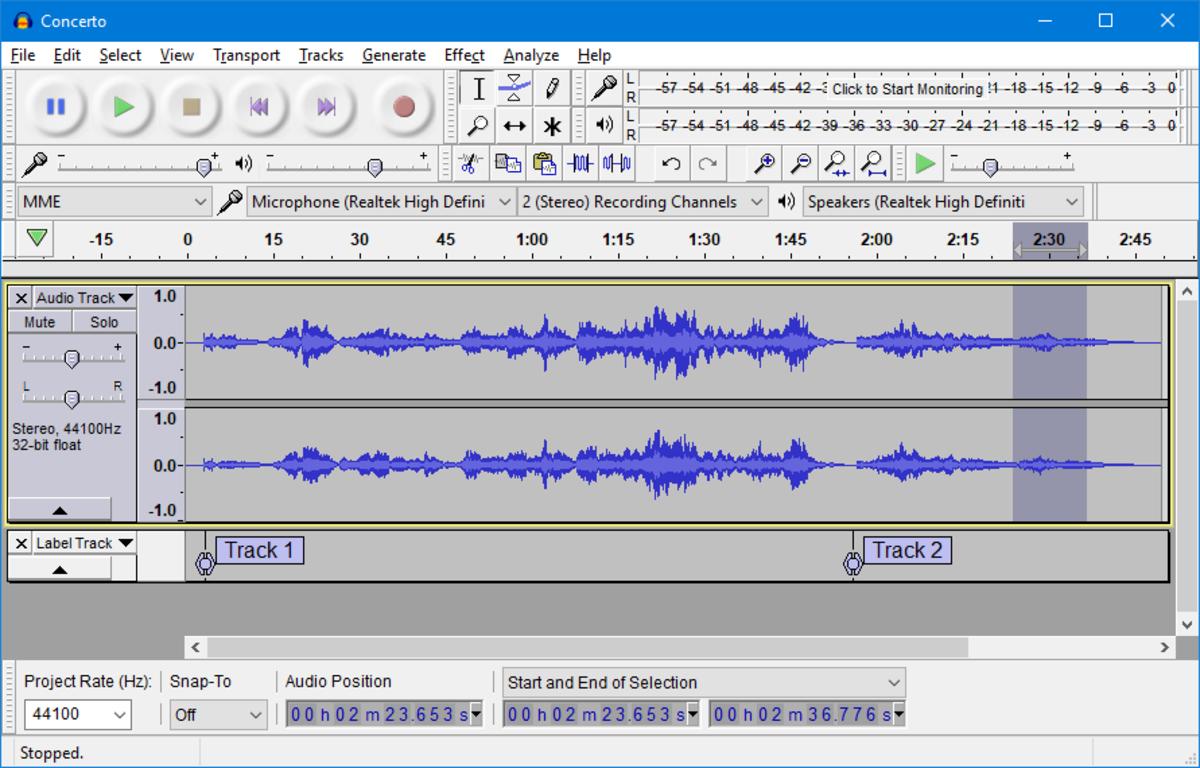 Audacity Sound Editing Tools