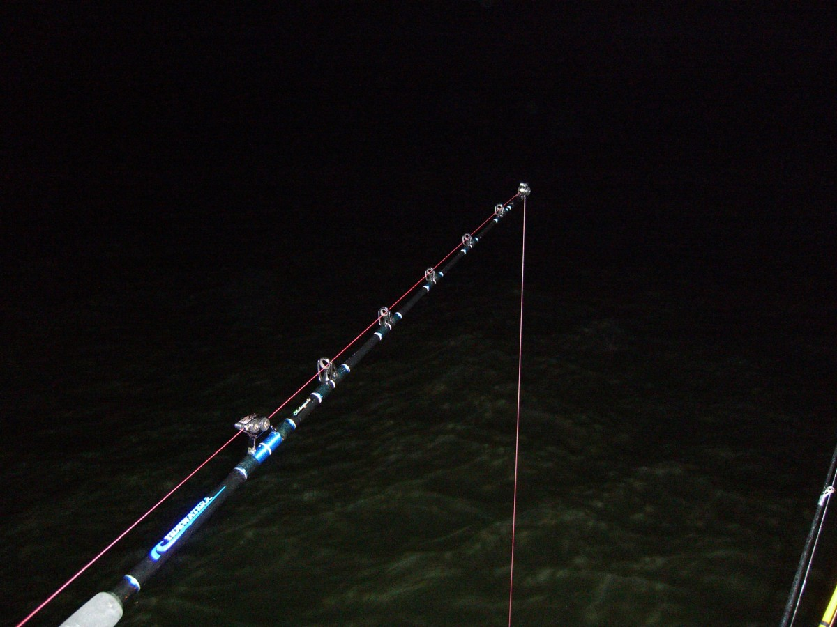 Catfishing at night, we are waiting in the dark for a big strike.