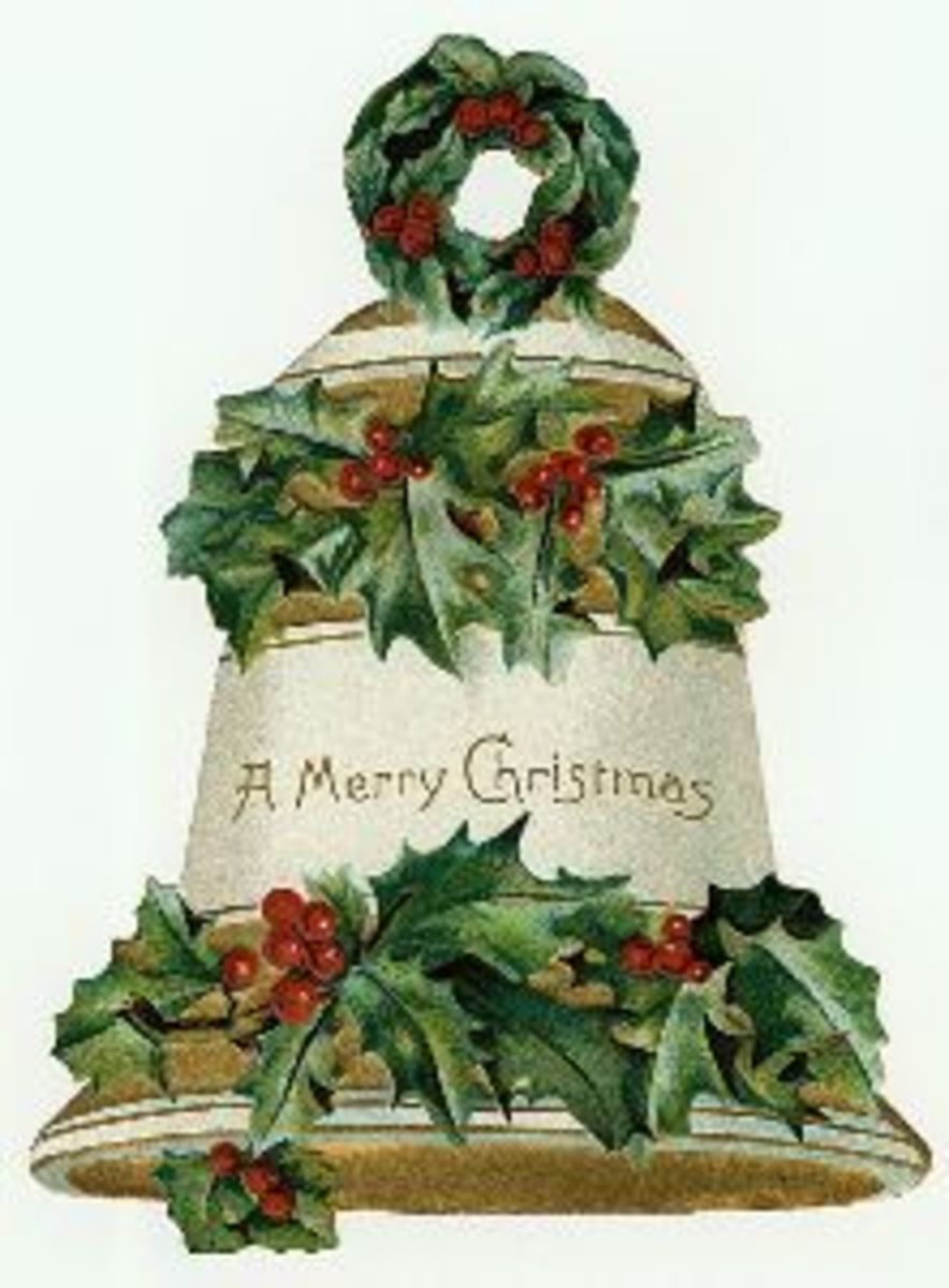 Free vintage Christmas bell image