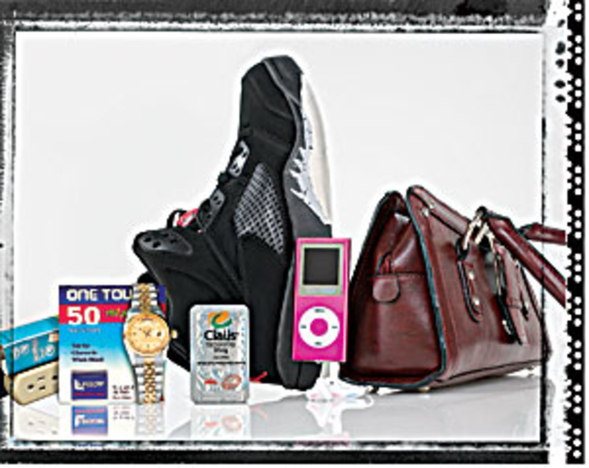 A photo of counterfeit products from the consumer report website