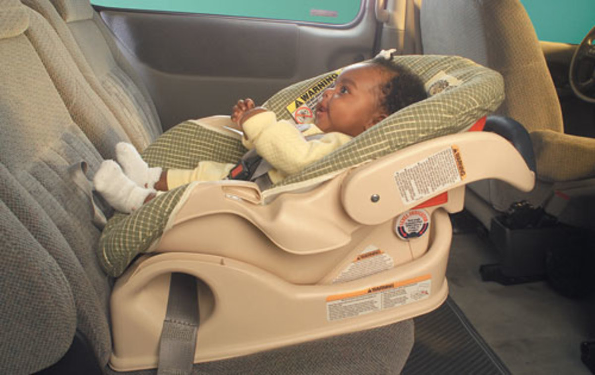 Infant rear-facing car seat