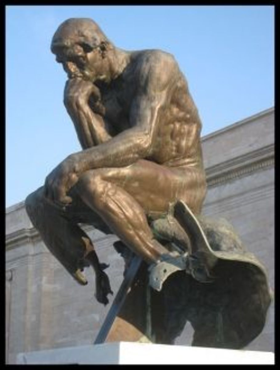 cast of Rodin's Thinker, Cleveland Museum of Art, photo by Daderot