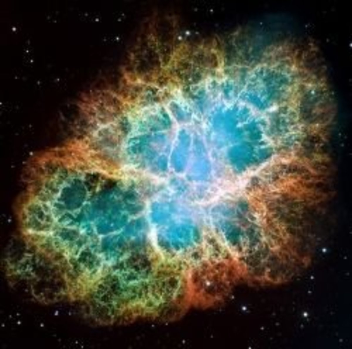 image of the Crab Nebula by NASA and ESA