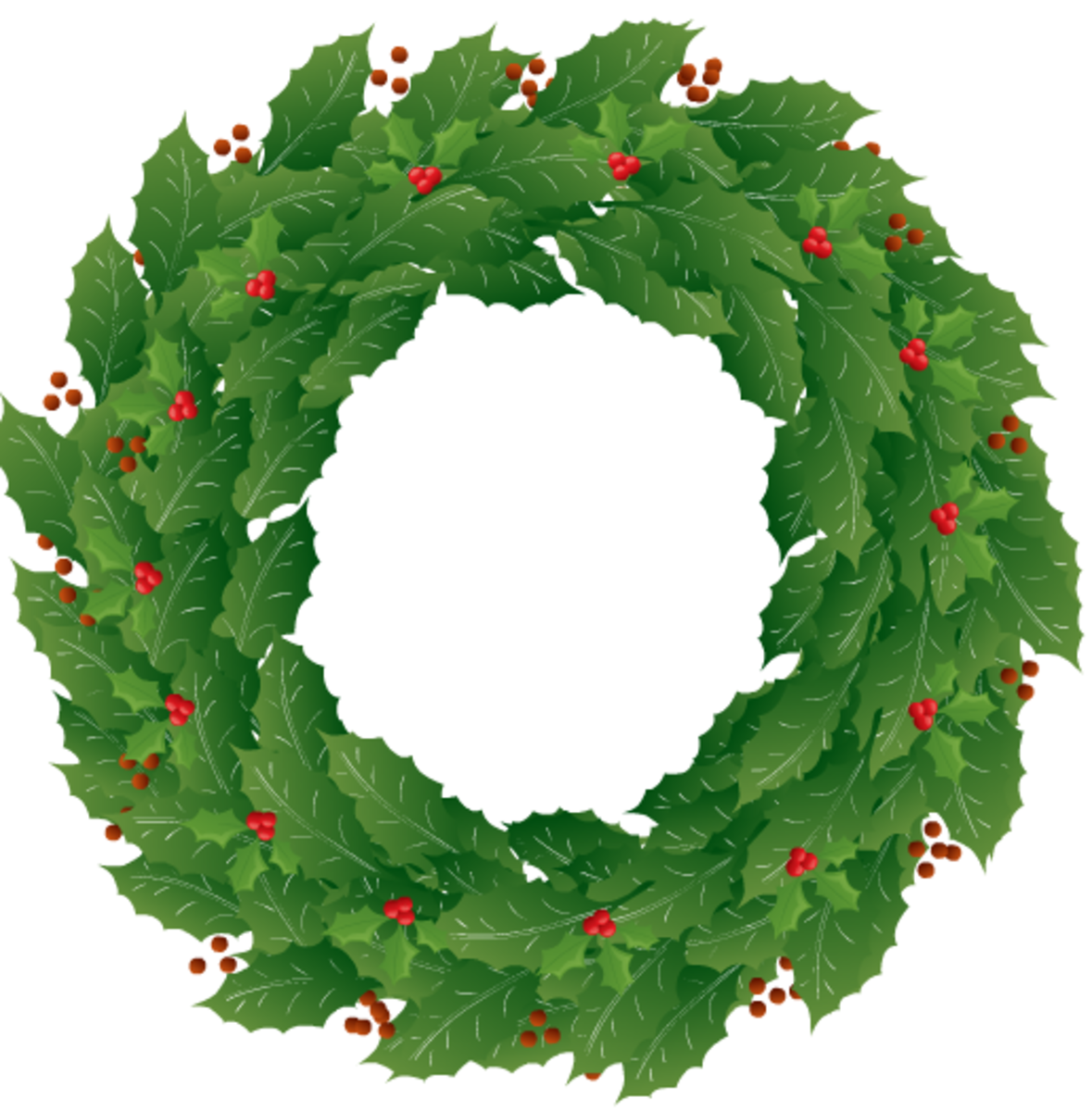 Plain holly wreath.