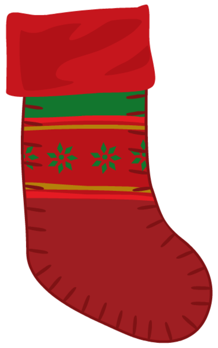 Red Christmas stocking.