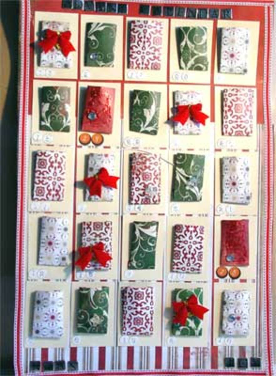 Hand Made Hanging  Advent Calendar