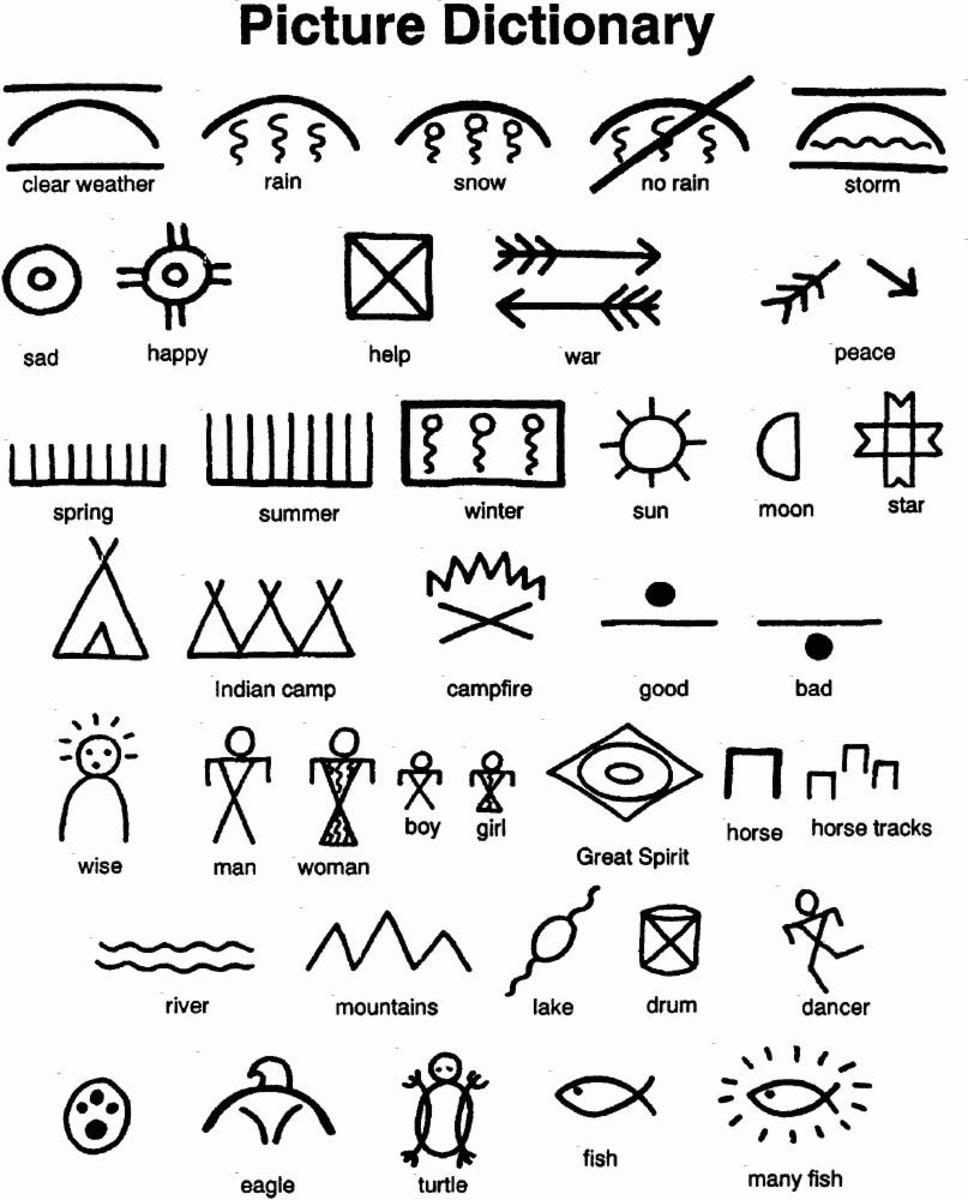 Native Americans used these word-pictures to communicate and to tell stories that were handed down from generation to generation.