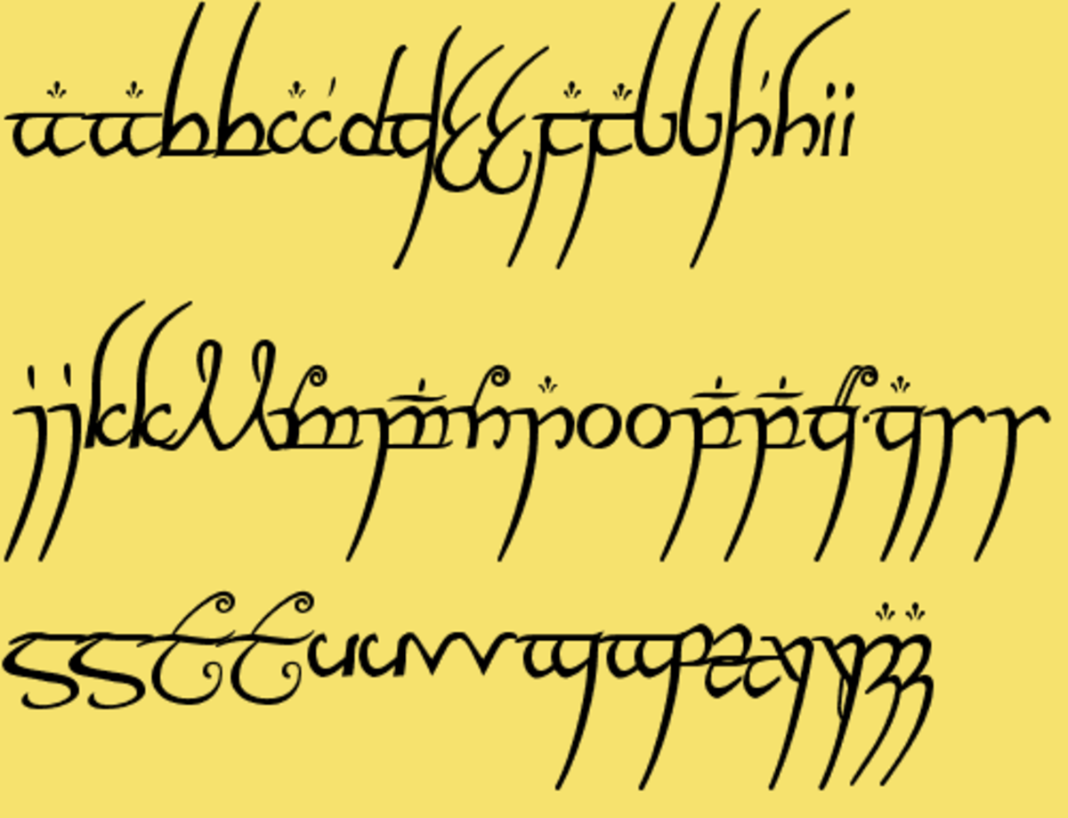 The Elvish written on the One Ring