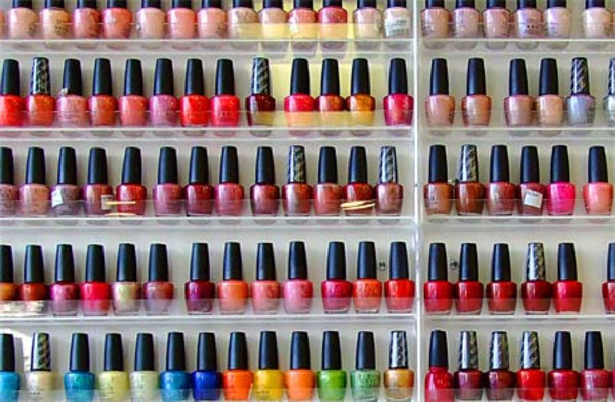 Variety of nail polish colors (image source: www.losgatosobserver.com)
