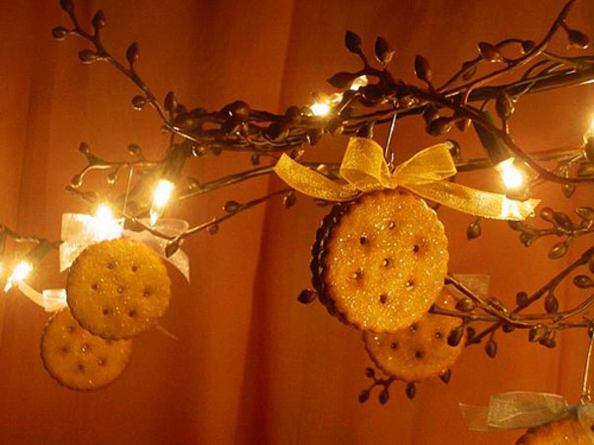 Christmas sugar cookie ornament