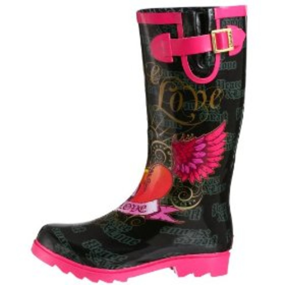Peace and Love Chooka rain boots