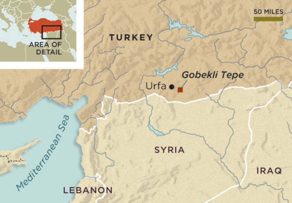Map of site in Turkey