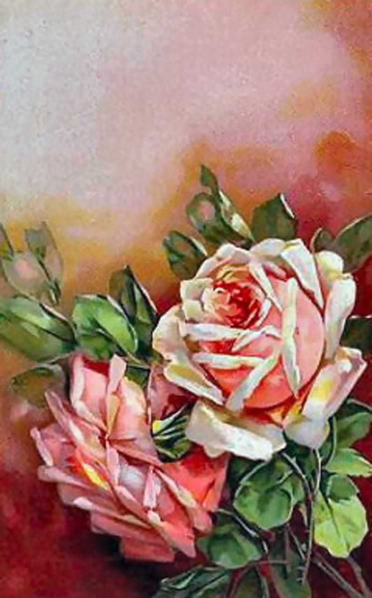 Vintage pink roses for Valentine's Day