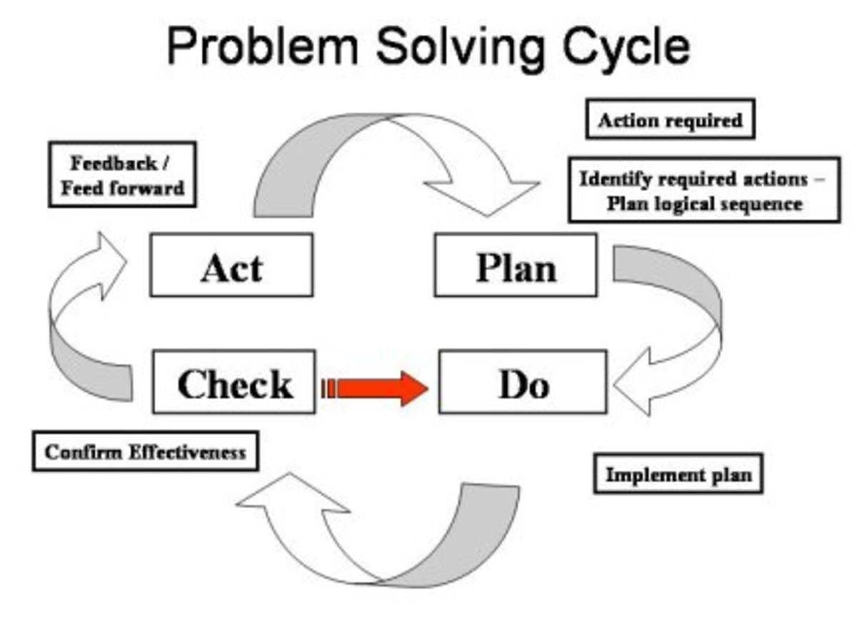 one conceptualisation of the problem solving process