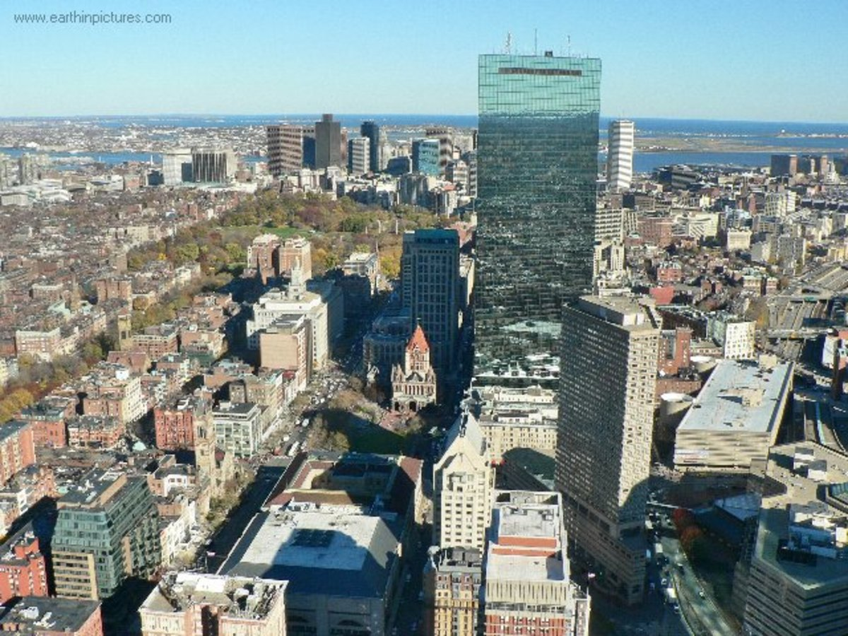 Downtown Boston from Prudential Tower