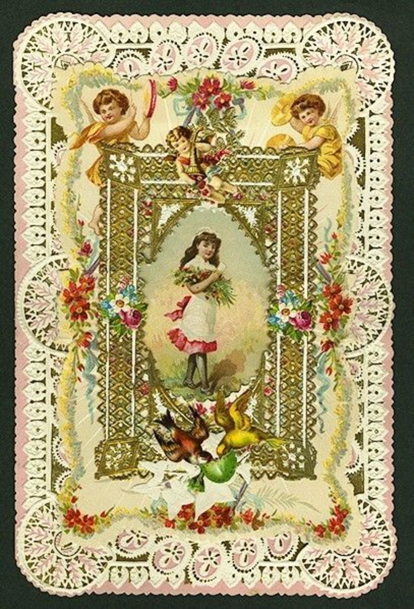 Victorian Valentine dated 1899, http://commons.wikimedia.org/wiki/File:Greeting_Card_Valentine_1899.jpg