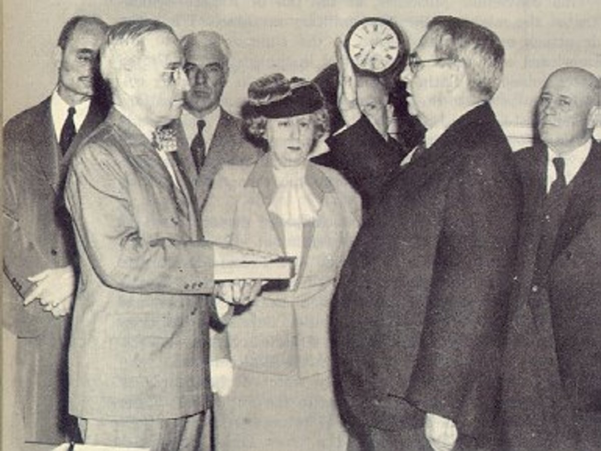"""Legend States That Upon Arriving At The White House After Hearing About FDR's Death Truman Asked Mrs. Roosevelt If There Was Anything He Could Do.  She Replied """"Is There Anything We Can Do For You?  You're The One In Trouble Now."""""""
