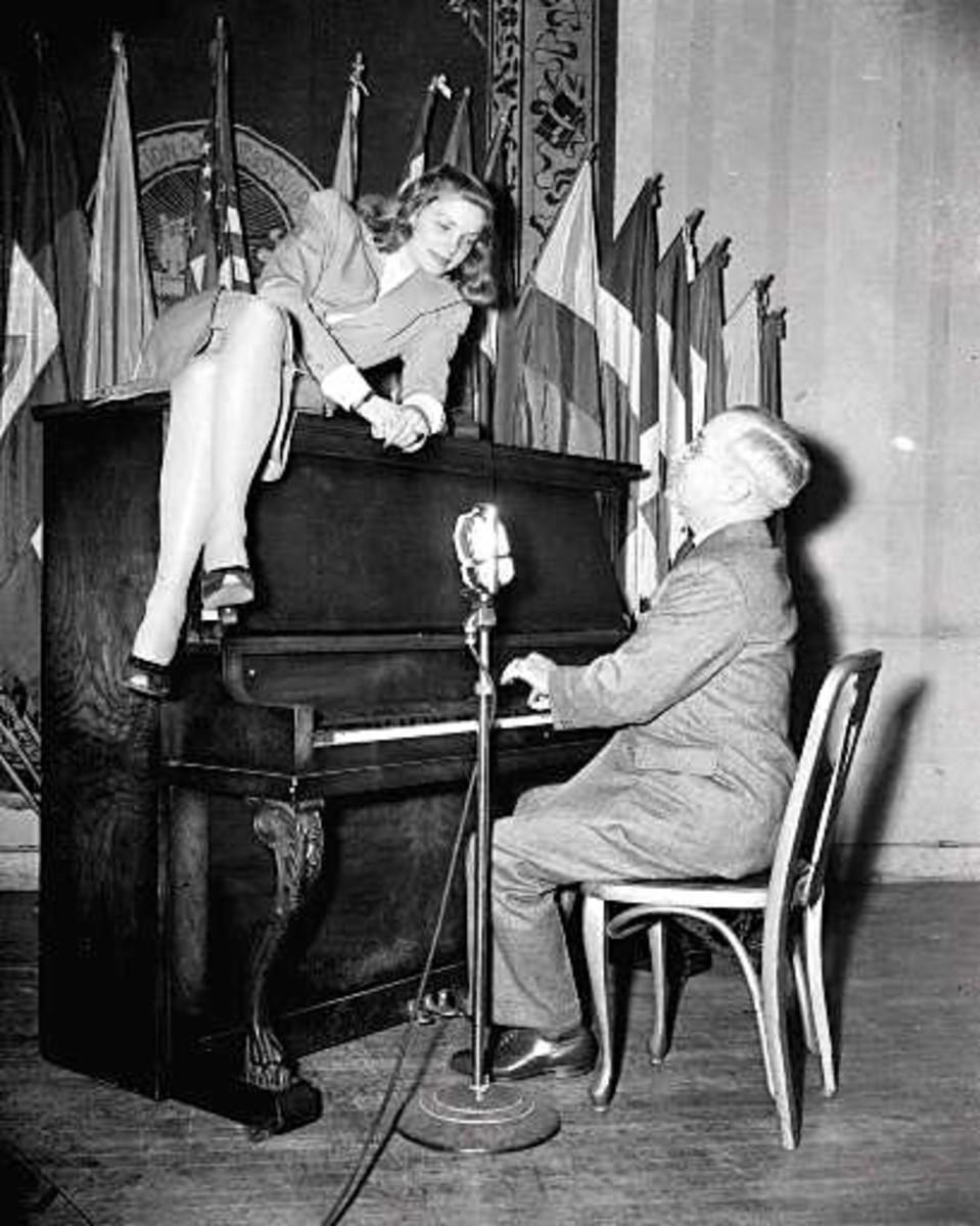 Truman with Lauren Bacall