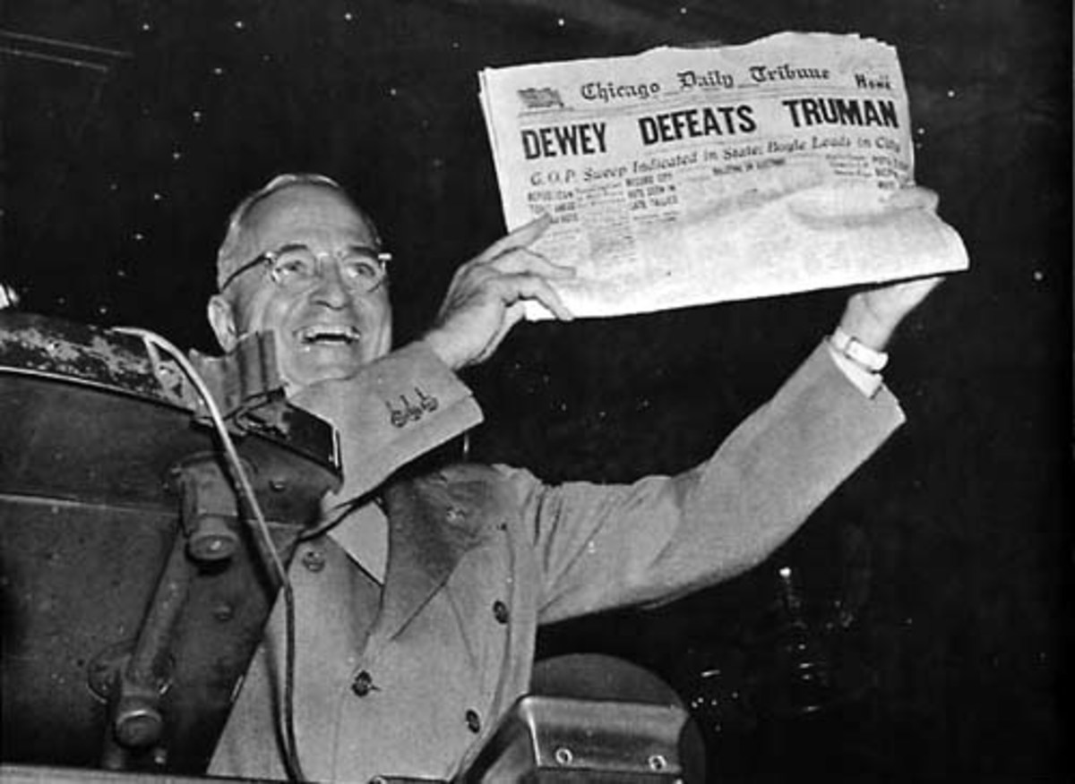 This Famous Photo Showing The Chicago Tribune's Wrong Call Of The Election Solidifed Truman's Image Of A Fighter