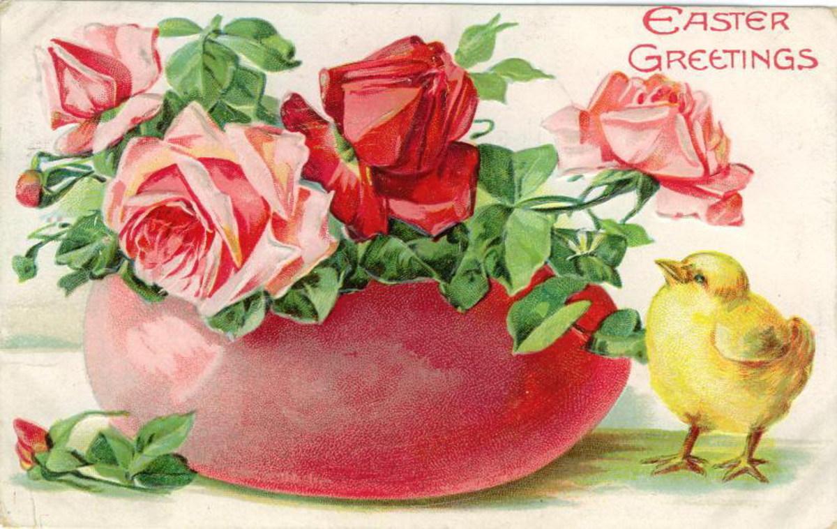 Free Vintage Easter Cards: Easter Flowers