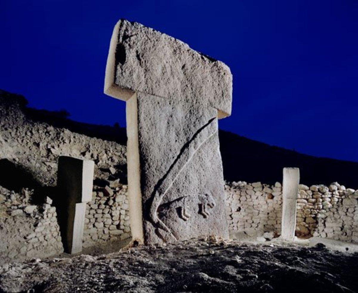One of many T-shaped megaliths at Göbekli Tepe