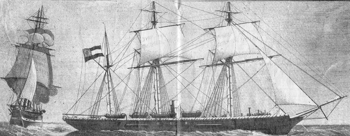 Painting of the Alabama from the collection of Major Jardine of Applegarth, Sir Lowry's Pass