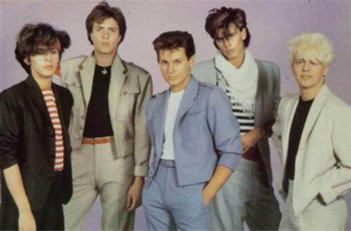 From left: Nick Rhodes, Simon Le Bon, Roger Taylor, John Taylor, Andy Taylor.