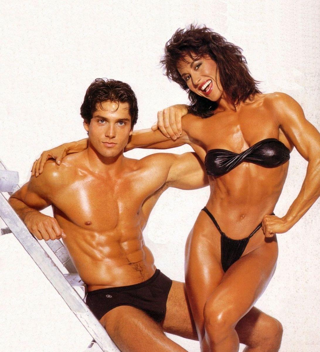 Rachel McLish in a 1980s fitness magazine